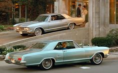 Buick Riviera..Truth of the matter is these Rivs are 1964s NOT the hidden headlamp 1963s,still love them though