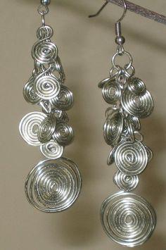 Swirls On The Vine Earrings Silver by MuzicToMyEars on Etsy, $22.00