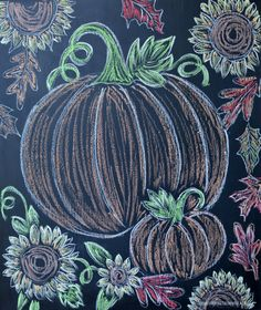 Chalkboard door on Potting Shed with pumpkins and mums | homeiswheretheboatis.net #fall #garden