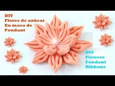 DIY flores de azúcar en cintas de masa fondant flowers fondant ribbons - YouTube