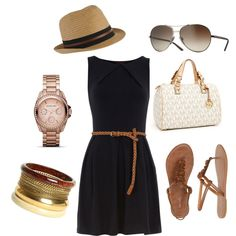 Summer Chic. I like the dress, probably wouldn't wear the hat.