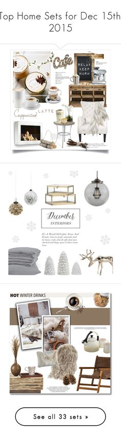 """""""Top Home Sets for Dec 15th, 2015"""" by polyvore ❤ liked on Polyvore featuring interior, interiors, interior design, home, home decor, interior decorating, Cafe Lighting, Oxford Garden, Eva Solo and Aroma"""