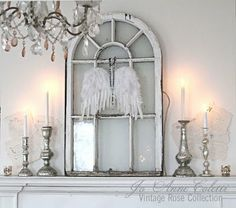 Great blog with a featured mantel every month, check out the archives!