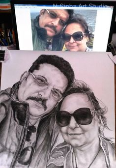 Drybrush Pencil Sketch & Portrait Artist in Delhi NCR Pencil Sketch Portrait, Portrait Sketches, Professional Portrait, Best Portraits, Delhi Ncr, Dry Brushing, Charcoal, Oil, Watercolor