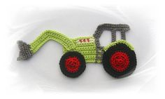 Items similar to Tractor application, crochet, crochet patch and patch tractor on Etsy