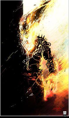 westcoastavengers: Ghost Rider by Leonardo Colapietro Marvel Comic Character, Comic Book Characters, Marvel Characters, Comic Books Art, Comic Art, Marvel Comics Art, Marvel Heroes, Soul Eater, Spirit Of Vengeance
