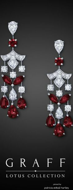 Graff Diamond and Ruby Pendant Earrings | Saved for Future Outfits in Gabrielle's Amazing Fantasy Closet