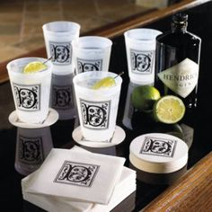 Monogrammed Disposable Party Pack ~ Frontgate