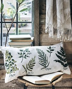 Bring the outside into your home this spring. We love this this cushion embroidered with wild plants from @sainsburys.