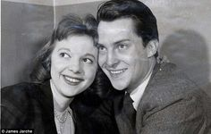 Anna Massey with her husband Jeremy Brett. The couple divorced in 1963.  Photo taken by David Suchet's maternal grandfather, James 'Jimmy' Jarché, a Fleet Street photographer.