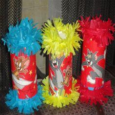Tom & Jerry Birthday Party Mini Pinatas Goody Bags Favor | texasfavors - Seasonal on ArtFire
