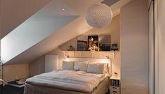 Интерьер квартиры на мансарде в Стокгольме, Швеция