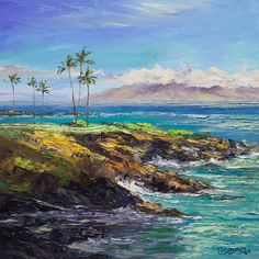 """Painting by PAPOH member Lisabongzee.  Painting called """"Kapalua, Maui"""""""