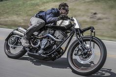 Roland Sands new old-style Indian Scout board tracker