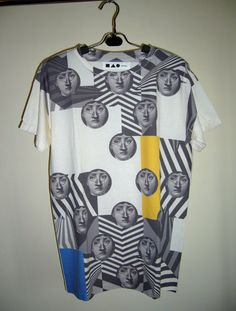 The Face - Fornasetti Italian Artist Vintage Art Design Printed Unisex Top T-Shirt Tunic