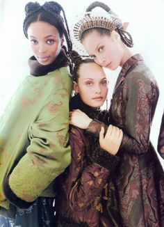 Naomi, Amber and Christy by Steven Meisel for Vogue US September 1994.