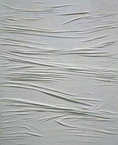 "Piero Manzoni (1933-1963), ""Achrome"", 1958 — Kaolin on canvas, 160 x 130 cm — © Fondazione Piero Manzoni, Milano, by VG Bild-Kunst, Bonn 2013 Courtesy FaMa Gallery, Verona"