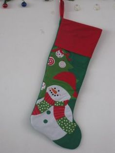 Christmas socks ( green bottom red edge )