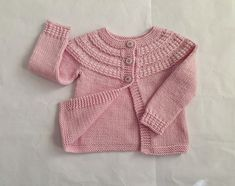 Pink merino wool girls cardigan, size 12 months baby, knit girl sweater 1 year, hand knitted Winter baby clothes, modern woollen handknits Winter Baby Clothes, Baby Winter, Baby Girl Sweaters, Wool Cardigan, Baby Month By Month, How To Look Pretty, Baby Knitting, 12 Months, Merino Wool