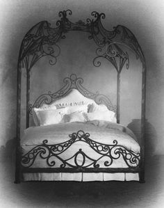 magical floating iron bed