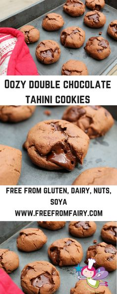 A simple freefrom cookie recipe...chocolate tahini cookies. Gluten-free, dairy-free, nut-free, soya-free, can be refined sugar-free...