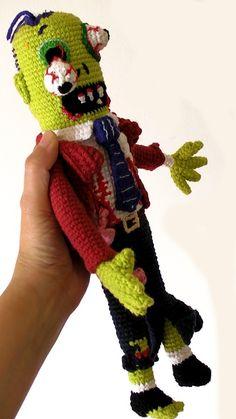 zombie crochet doll
