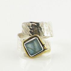 #KejaJewelry on Artfire   #ring                     #Labradorite #Adjustable #Tone #Wrap #Ring          Labradorite Adjustable Two Tone Wrap Ring                                     http://www.seapai.com/product.aspx?PID=763619