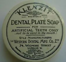 A VICTORIAN KLENZIT DENTAL PLATE SOAP POT LID Pot Lids, Dental, Soap, Plates, Licence Plates, Dishes, Griddles, Teeth, Tooth