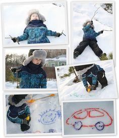Рисуем на снегу  Познаем Мир Играя http://www.poznaemigraya.ru