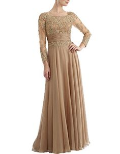 AnKang Elegant Lace Long Sleeve Formal Mother Of Bride Evening Prom Dress (2, Gold) AnKang http://www.amazon.com/dp/B011U46YXG/ref=cm_sw_r_pi_dp_6hH1vb01QB39B
