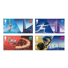 London 2012 stamps by Hat Trick Design