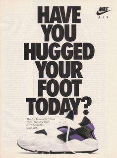 hypebeast:    Original 1992 Nike Air Huarache Advert
