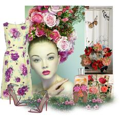 THINK FLORAL, created by arnetta on Polyvore