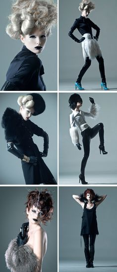 High fashion poses
