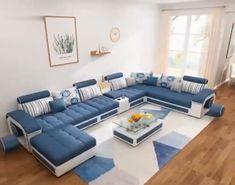Corner Sofa Design, Sofa Bed Design, Living Room Sofa Design, Bedroom Bed Design, Bedroom Sofa, Home Room Design, Living Room Sofa Sets, Living Rooms, Latest Sofa Designs