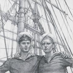 Georgy Gurianov  [Russian 1961-2013]  Two Sailors 2003-04
