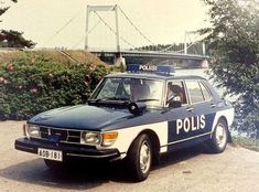 Saab 99 from the Finland's Historical Perspective Emergency Vehicles, Police Vehicles, Old Police Cars, Couple Photography Poses, Friend Photography, Maternity Photography, Family Photography, Antique Cars, Vintage Cars