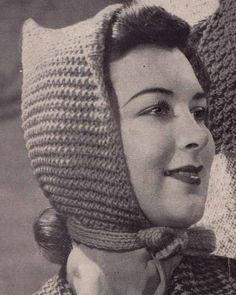 1950s Pixie Hat & Scoodie VINTAGE KNITTING par GrannyTakesATrip