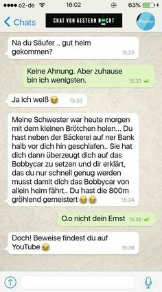 (notitle) - Caro Loewenherz, - Ca. Funny Chat, Haha Funny, Funny Texts, Lol, Weird Text, Crazy Text, Funny Quotes, Life Quotes, Funny Text Messages