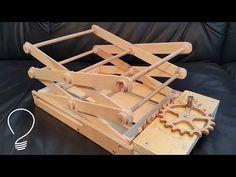Homemade Scissor Lift (Using Wooden Gears) - YouTube