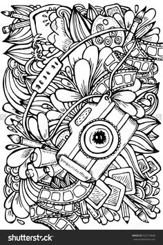 Camera Coloring Pages Girl With A Camera Coloring Page Coloring ...