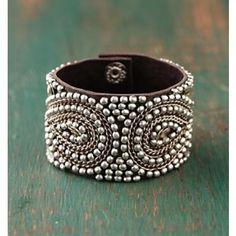 Silver Bead Cuff