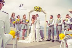Love grey & bright yellow wedding palettes!  It's classic and contemporary.