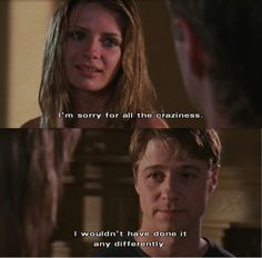 """I'm sorry for all the craziness."" ""I wouldn't have done it differently."" Ryan and Marissa - The OC Best Tv Shows, Best Shows Ever, Favorite Tv Shows, Series Movies, Movies And Tv Shows, Tv Series, Tv Show Quotes, Movie Quotes, The Oc Tv Show"