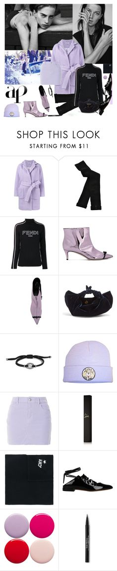 """""""The Gang"""" by sue-mes ❤ liked on Polyvore featuring Wildfox, Ganni, HYD, Fendi, Marco de Vincenzo, The Row, John Hardy, Christian Louboutin, Givenchy and Nails Inc."""