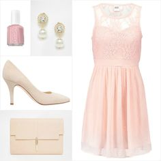 vintage rose wedding guest outfit