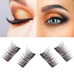 8f7e069b71e US$10.48 - LuckyFine 8Pcs/2 Pairs Magnetic 3D False Eyelashes Long Natural  Eyelash Extension · Best Lash ...