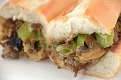 Sandwich Recipe: Cheesesteak with Onions & Green Peppers