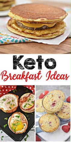 Are you looking for a quick and easy keto recipes for breakfast? Here are the BEST homemade keto breakfast ideas! Yummy low carb food ideas perfect to feed a family, friends or brunch parties. Kids will even love all these ideas. Sugar Free Breakfast, Best Keto Breakfast, Keto Breakfast Muffins, Keto Breakfast Smoothie, Breakfast Food List, Breakfast Ideas, Diabetic Breakfast Recipes, Ketogenic Breakfast, Dessert Recipes