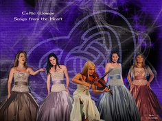 "I made this from different pix of Celtic woman & when we met them I asked them if they would autograph it for me. They did & I had it on the signing table for our wedding. Celtic Woman's music played for our wedding & my walk down the aisle was to ""The Call"" which is in the backgd of the pic"